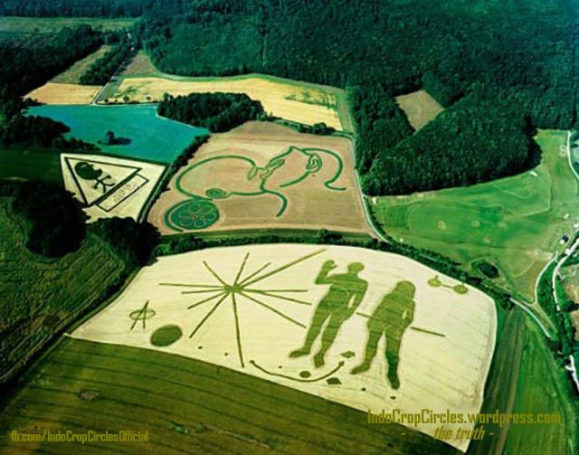 star map crop circles