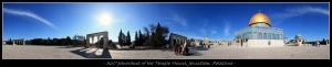 Penampakan panorama 380° di sekeliling Kubah Emas