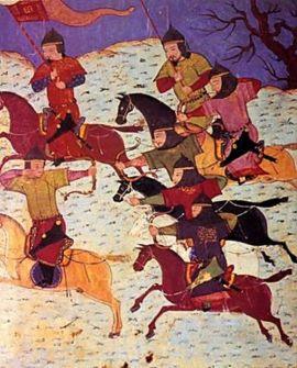 tentara Mongol dalam medan pertempuran melawan tentara Jawa