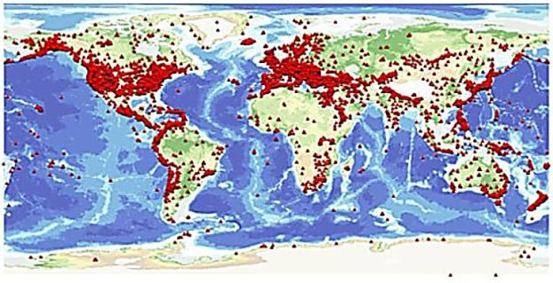peta gempa dunia