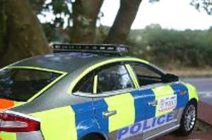 Keesokan harinya terlihat mobil polisi berada ditempat kejadian untuk penyelidikan lebih lanjut.