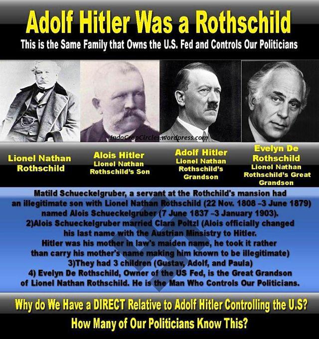 Adolf Hitler was a Rothschild
