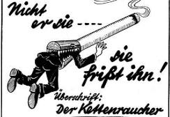 Salah satu bentuk kampanye Hitler tentang rokok
