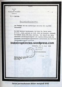Surat permohonan hitler menjadi warga negara Indonesia