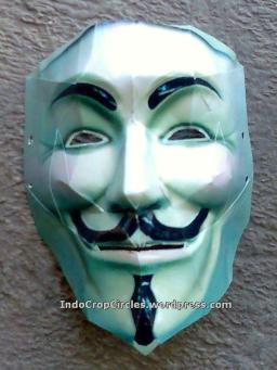 Cara Membuat Topeng Guy Fawkes Anonymous Mysterious Thing