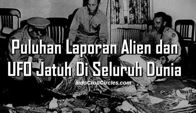 Puluhan Laporan  Alien dan UFO Jatuh Di Dunia small banner