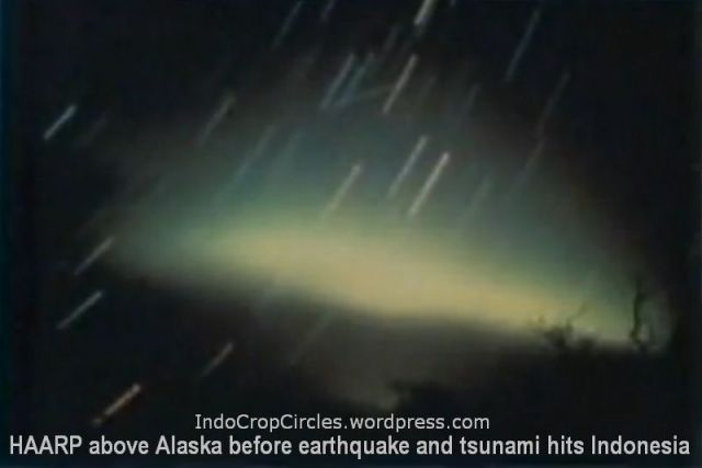 HAARP before big eartquake and tsunami in Indonesia