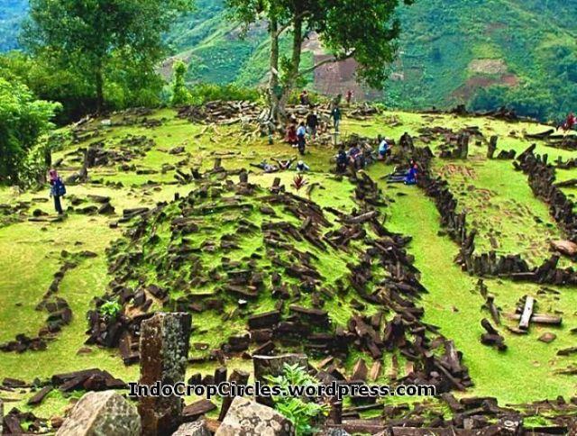 Megalith Padang Hills Gunung Padang West Java Indonesia