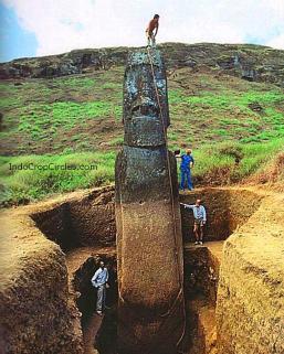 Patung Moai yang digali di Easter Island