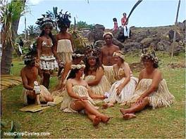 Wanita suku Rapanui Pulau Paskah