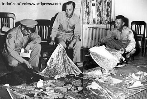 roswell ufo crash - Benda-benda dari serpihan tragedi Roswell yang berceceran di lokasi tempat jatuhnya UFO dikumpulkan oleh pihak militer.
