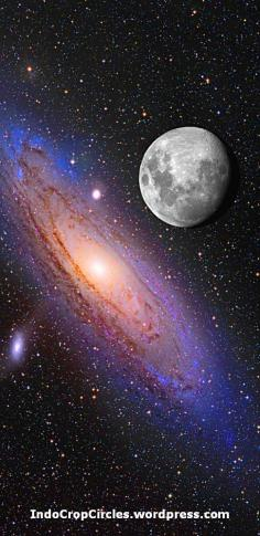 Moon and Galaxy Andromeda