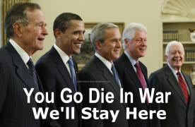 you go to the war we will stay here