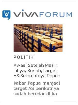 vivanews target AS selanjutnya papua