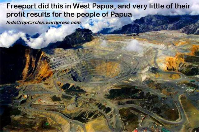 west papua Freeport Grasberg mines