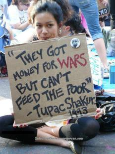 money for wars not for food