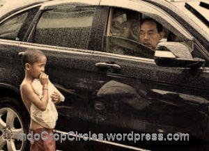 hantu peminta di jalan HR Rasuna Said Kuningan