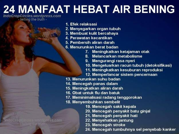 manfaat air putih air bening