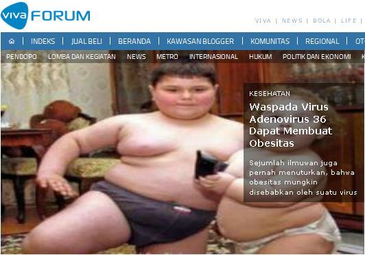 vivanews virus obesitas