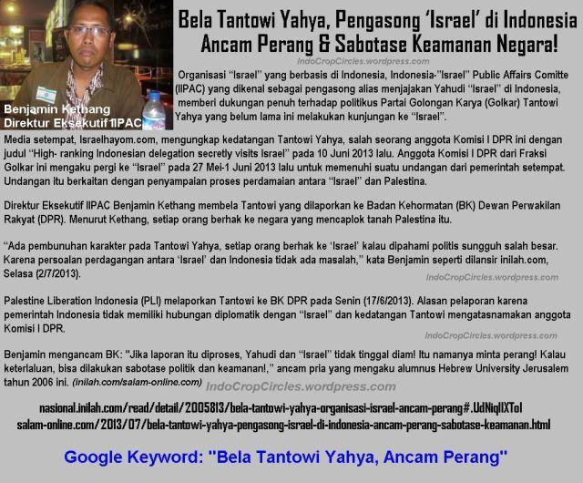Benjamin_Kethang-Bela Tantowi Yahya, Ancam Perang