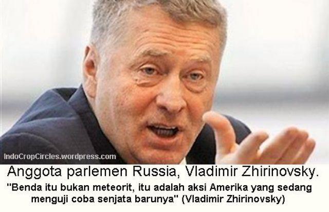 anggota parlemen Russia Vladimir Zhirinovsky