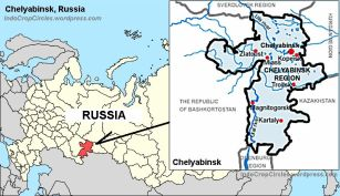 Chelyabinsk Russia map