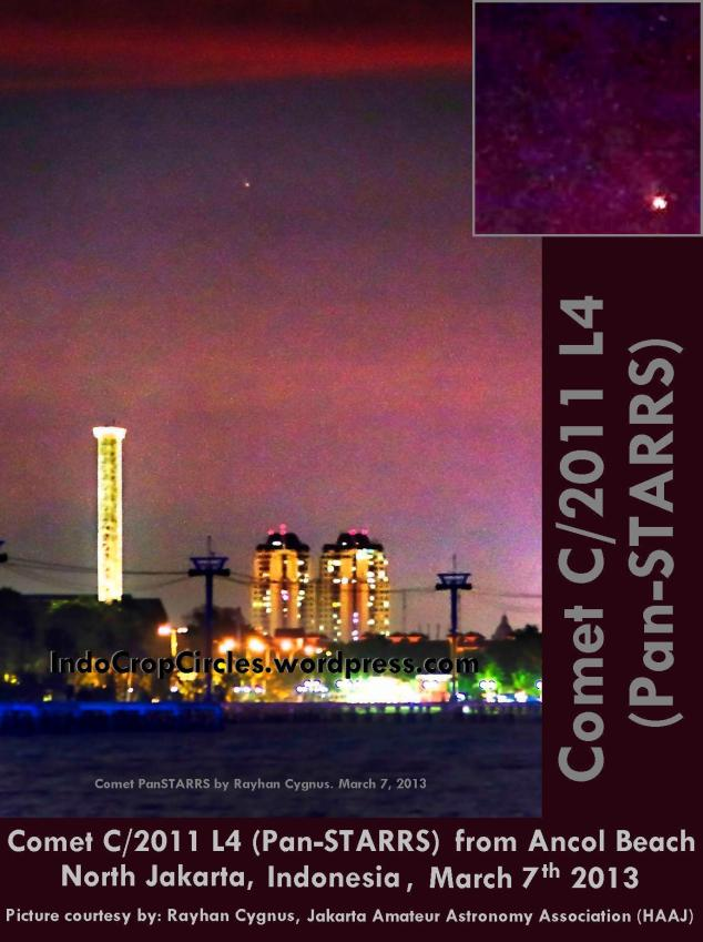 Comet Panstarrs C2011L4 above Jakarta Ancol, 7 Maret 2013