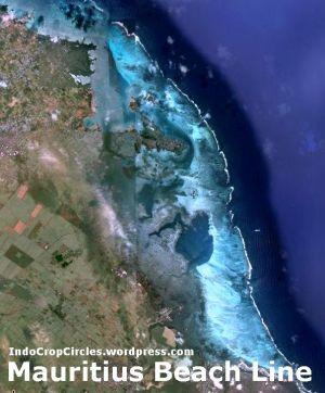 Mauritius beach line