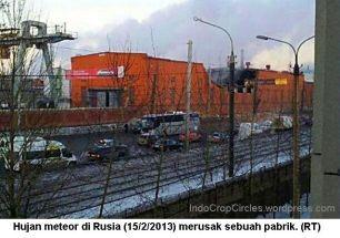 Meteor russia - meteor hancurkan pabrik