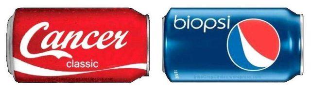 coca cola pepsi kanker