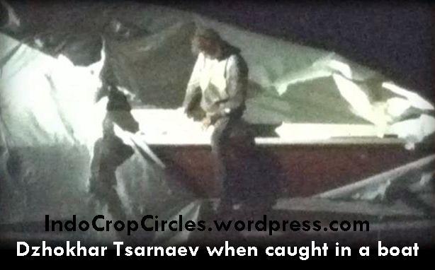 Dzhokhar Tsarnaev when caught in a boat