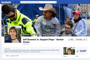 jeff bauman Jr support page on facebook