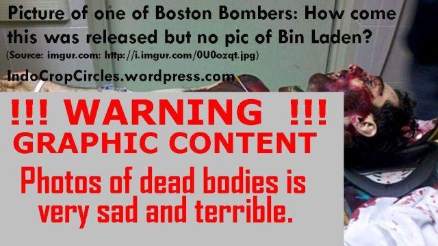 Tamerlan Tsarnaev dead body