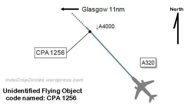 UFO named by ATC as CPA 1256