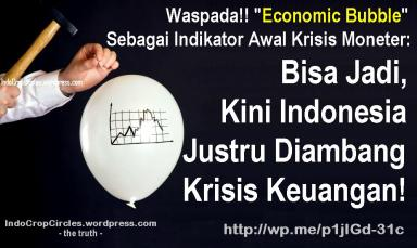 economic bubble banner