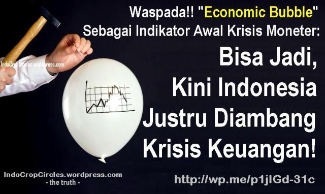 economic bubble banner