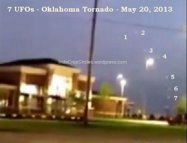 7 ufo's oklahoma tornado May 2013