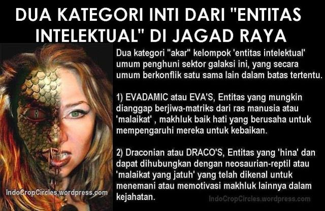 entitas intelektual ET alien demon human dijagad