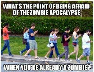 human zombie smartphone phonesel