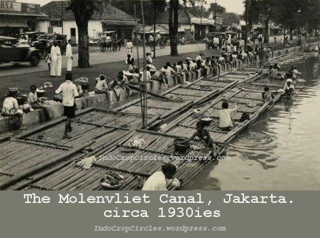 Jakarta jadul - The Molenvliet canal, Jakarta 1930ies