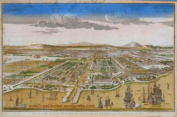 Jakarta jadul Ville_de_Batavia_Image of Batavia, capital of the Dutch East Indies in what is now North Jakarta, circa 1780