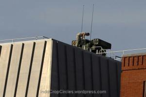 misille on the top of building roof