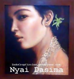 Lukisan Nyai Dasima yang dibuat oleh seorang artis pelukis