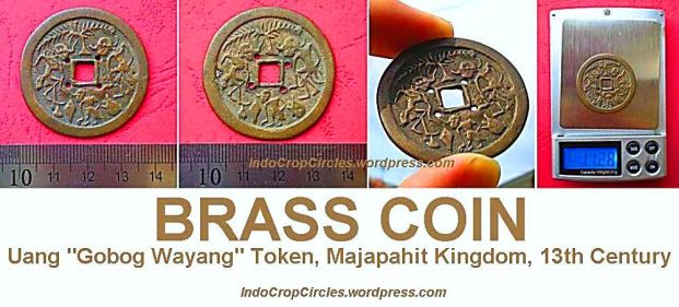 Uang Gobog Wayang Coin, Majapahit Kingdom, 13th Century