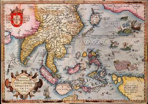 Indiæ Orientalis map by Abraham Ortelius (1570)