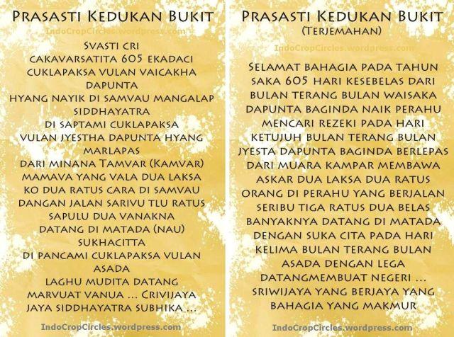 prasasti kedukan bukit translated