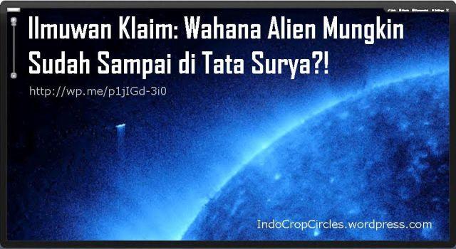 UFO near Sun by SOHO banner