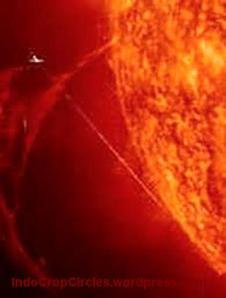 ufo near sun