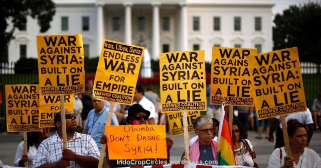 Washington, America - US is on the march toward yet another war of aggression in the Middle East, this time targeting Syria. The ANSWER Coalition is taking to the streets in opposition and calling on organizations and individuals to stand with us against what would be a destructive and criminal war by the U.S. government. (answercoalition.org)