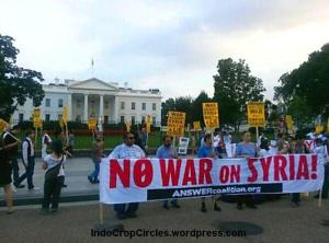 Aug. 29 protest at the White House initiated (by the ANSWER Coalition)